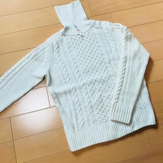 ムジルシリョウヒン(MUJI (無印良品))の無印良品 タートルセーター アラン編み(ニット/セーター)