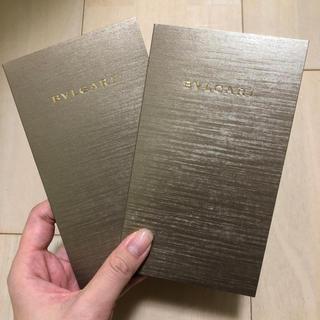 ブルガリ(BVLGARI)のBVLGARI カード入れ 2枚組(カード/レター/ラッピング)