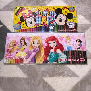 ディズニー(Disney)の【ディズニープリンセス+ミッキー】新品色鉛筆50本(色鉛筆 )