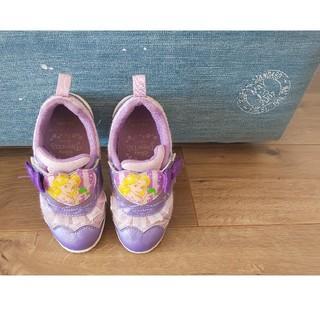 ディズニー(Disney)のラプンツェル スニーカー 16センチ 紫 プリンセス 幼稚園 保育園 (スニーカー)