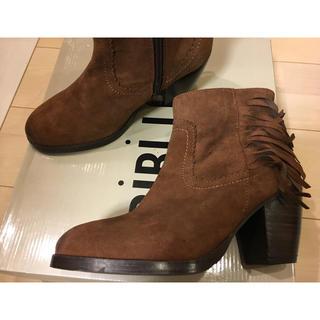 ナンバージュウイチ(n゜11)のno.11 BIBI LOU スエードフリンジショートブーツ23.0cm(ブーツ)