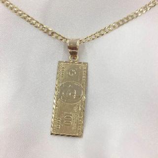 アヴァランチ(AVALANCHE)の10金 100ドル紙幣 ペンダント ネックレス (ネックレス)