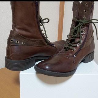 ジーティーホーキンス(G.T. HAWKINS)のGThawkins 珍しいダブルジップのブーツ (ブーツ)