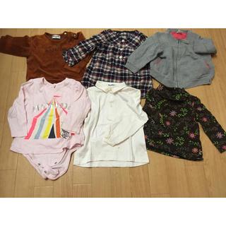 ベビーギャップ(babyGAP)の女の子 子供服まとめ売り トップス&パンツ 80 90 キッズ ガールズ(パンツ)
