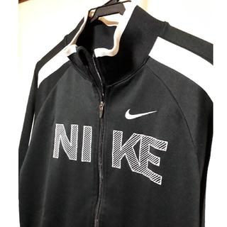 ナイキ(NIKE)のシェリー様《NIKE》ナイキ:オール刺繍ロゴ トラックジャケット/ジャージ/黒白(その他)