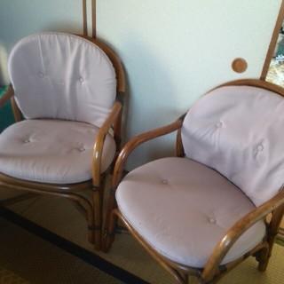 藤の椅子2脚(その他)