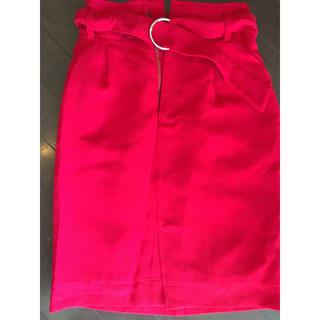 バイバイ(ByeBye)のバイバイ 赤スカート(ひざ丈スカート)