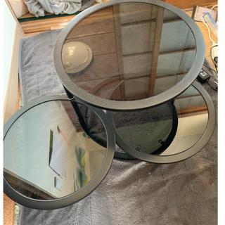 フランフラン(Francfranc)のガラス丸テーブル Francfranc(ローテーブル)