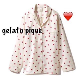 ジェラートピケ(gelato pique)のgelato pique  ジェラートピケ ジェラピケ ハートサテンシャツ(パジャマ)