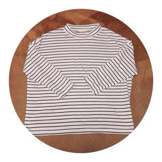 ジーユー(GU)のg.u. ドルマンボーダーTシャツ(Tシャツ(長袖/七分))