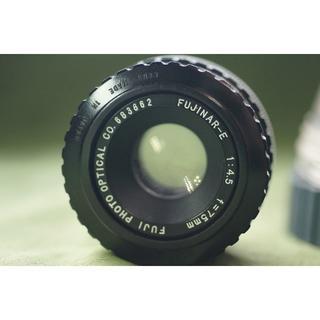 フジフイルム(富士フイルム)のFUJINAR-E 引き延ばしレンズ 75mm 4.5 + NEX装着アダプター(レンズ(単焦点))