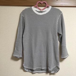 ジーユー(GU)の【GU】□ ボーダーワッフル7分袖(Tシャツ/カットソー(七分/長袖))