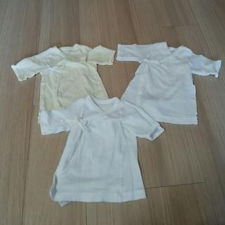 ムジルシリョウヒン(MUJI (無印良品))の新生児肌着 50~60㎝ 3枚セット(肌着/下着)