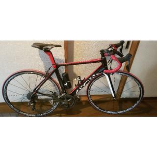 AXMAN FALCON S3 RED ハイエンドエアロカーボン 送料込み価格(自転車本体)