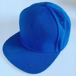 アディダス(adidas)のadidas アディダス ストレートキャップ カラーキャップ 青 ブルー 帽子(キャップ)