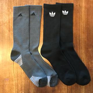 アディダス(adidas)の未使用アディダス adidas 厚手靴下ソックス2足組 サイズM(ソックス)