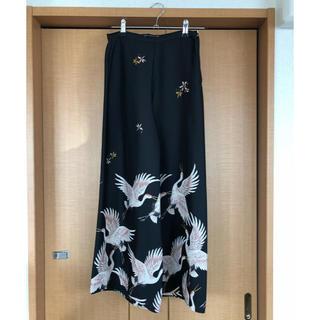 ザラ(ZARA)のZARA kimonoワイドパンツ(カジュアルパンツ)