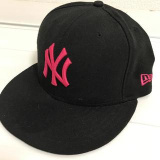 ニューエラー(NEW ERA)のニューエラ ヤンキース キャップ 黒×ピンク(キャップ)