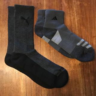 adidas - 未使用アディダス adidas プーマ PUMA 厚手靴下ソックス2足組