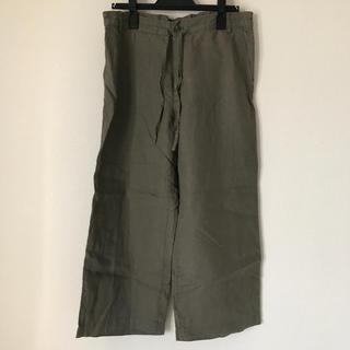 ムジルシリョウヒン(MUJI (無印良品))の麻7分丈パンツ(カジュアルパンツ)