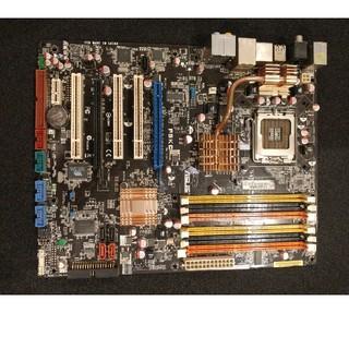 エイスース(ASUS)のASUS P5KC LGA775 マザーボード 動作確認済(PCパーツ)