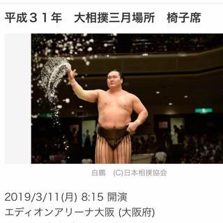 大相撲三月場所 3/11 椅子D 2連番 (相撲/武道)