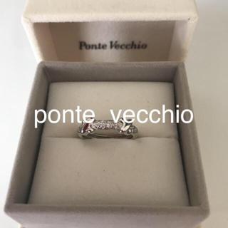 ポンテヴェキオ(PonteVecchio)のK18WG ダイヤモンドリング(リング(指輪))