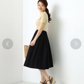 デミルクスビームス(Demi-Luxe BEAMS)のデミルクスビームス フレアスカート ネイビー(ひざ丈スカート)