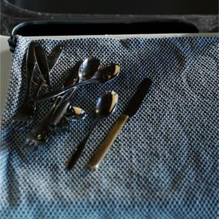 ジョージジェンセン(Georg Jensen)の新品未開封✳︎ジョージジェンセン ダマスクエジプト ティータオル ディープブルー(収納/キッチン雑貨)