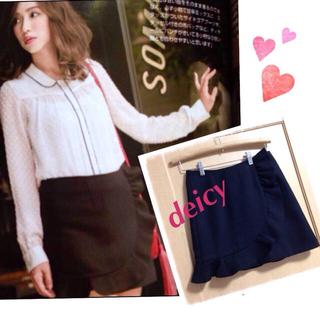 デイシー(deicy)の新品・タグ付♡カラーウールフリルスカート(ミニスカート)