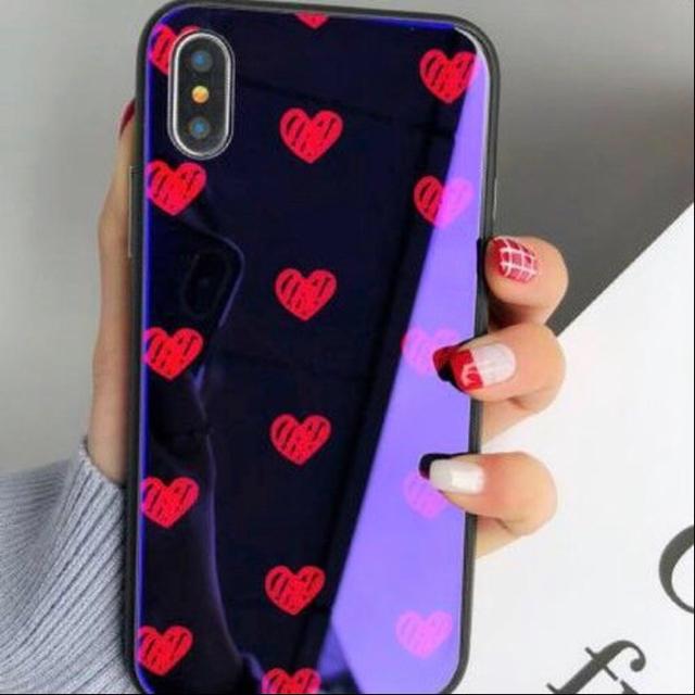 ミュウミュウ iphone8plus ケース | ハートドット柄 ソフトシェルクリア iPhoneケースの通販 by ナプア|ラクマ