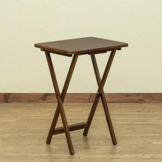 折りたたみ テーブル サイドテーブル ブラウン おしゃれ シンプル かわいい(コーヒーテーブル/サイドテーブル)