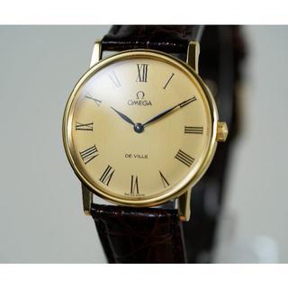 オメガ(OMEGA)の美品 オメガ デビル ゴールド ローマンインデックス 手巻き メンズ (腕時計(アナログ))