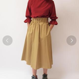 アイロニー(IRONY)のアイロニー  ひざ下スカート ベージュ(ひざ丈スカート)