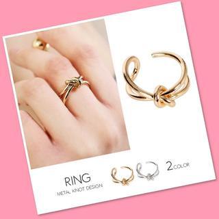 メタル結びデザインリング(ゴールド)(リング(指輪))
