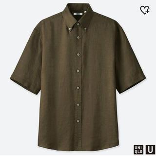 ユニクロ(UNIQLO)のユニクロU メンズ プレミアムリネンワイドフィットシャツ(シャツ)