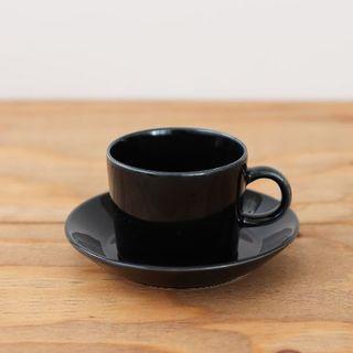 アラビア(ARABIA)のARABIA | Teema | カップ&ソーサー(小) ブラック(グラス/カップ)