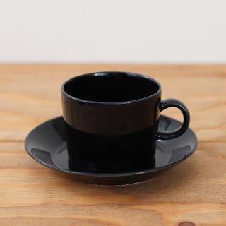 アラビア(ARABIA)のARABIA | Teema | カップ&ソーサー(大) ブラック(グラス/カップ)