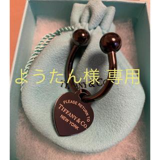 ティファニー(Tiffany & Co.)の【ようたん様 専用】ティファニー  ブラックチタン  キーリング(キーホルダー)
