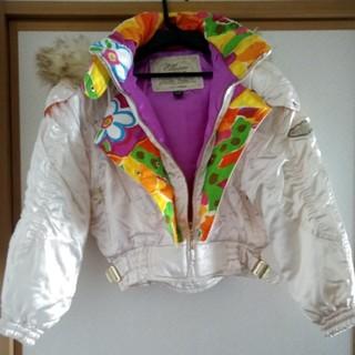 ellesse - 中古品 スキーウェア ジャケット 女性用 エレセッセ ファー付 ホワイトパール