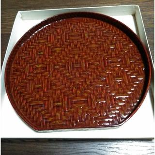 籃胎漆器お盆(サイズ小さめ)(漆芸)