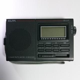 ELPA ER-21T AM/FM/短波ラジオ(ラジオ)