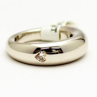 ダイヤ1P K18ホワイトゴールド ハート リング(リング(指輪))