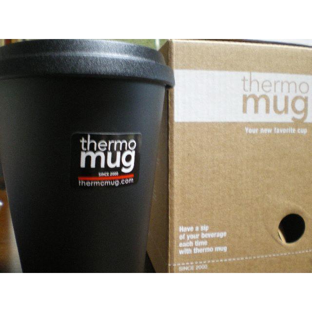 thermo mug(サーモマグ)のサーモマグ モバイルタンブラー ブラック(350)未使用です インテリア/住まい/日用品のキッチン/食器(タンブラー)の商品写真