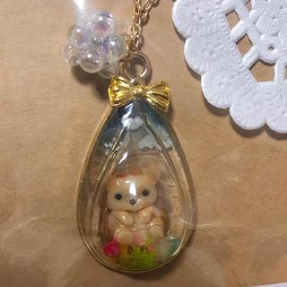 R037 Riccio♡nico ネックレス ハリネズミ ハンドメイド(その他)