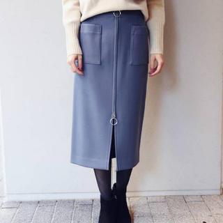 ノーブル(Noble)のNOBLE TWダブルクロスフープジップタイトスカート◆  (ひざ丈スカート)