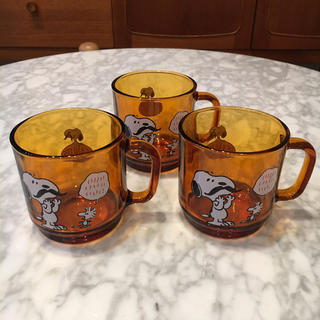 デュラレックス(DURALEX)のデュラレックス スヌーピー マグ プラザ 3個セット(グラス/カップ)