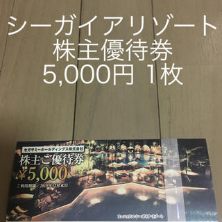 セガ(SEGA)のシーガイアリゾート 株主優待券 1枚(遊園地/テーマパーク)