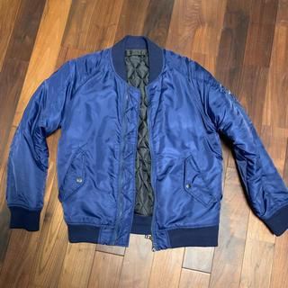 アドポーション(ADPOSION)のADPOSION ma-1 ジャケット Lサイズ ネイビー(ブルゾン)
