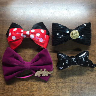 Disney - ディズニー バレッタ ディズニーランド ミニー ヘアアクセサリー ヘアアクセ